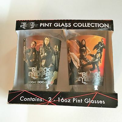 The Black Eyed Peas Pint Glass Collection, 2-16oz pint glasses, New