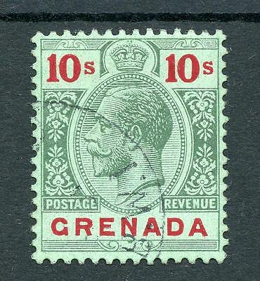 Grenada 1913-22 10s green and red on green (emerald back) SG101a FU cat £190