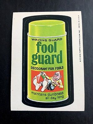 RARE 1976 16th Series 16 Topps WACKY PACKAGES FOOL GUARD