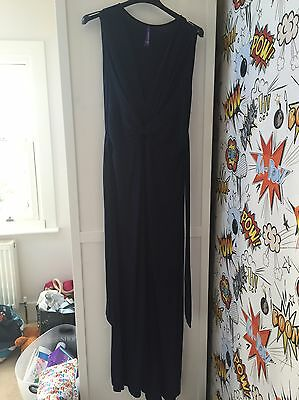 Seraphine Midnight Blue Maxi Maternity Dress - Size 2/10