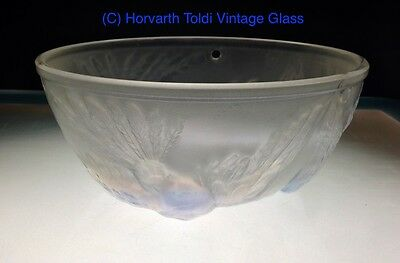 1930s Art Deco Jobling Opalescent Bird Glass Lamp Shade