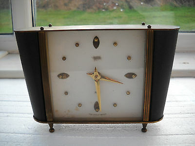 Vintage Floating Balance Mantel Clock In G.w.o.