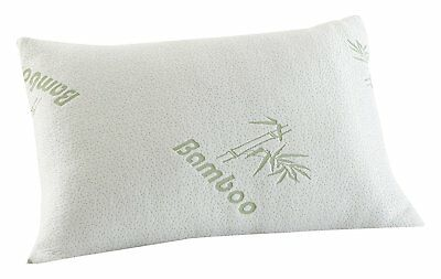 New MEMORY FOAM BAMBOO PILLOW ~ Head Neck Support ~ Orthopedic Pillow UK SIZE