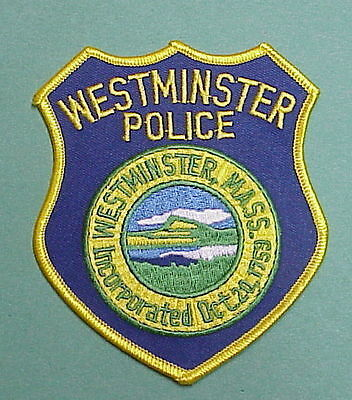 Westminster  Massachusetts  Ma  Incorporated  1759  Police Patch  Free Shipping!