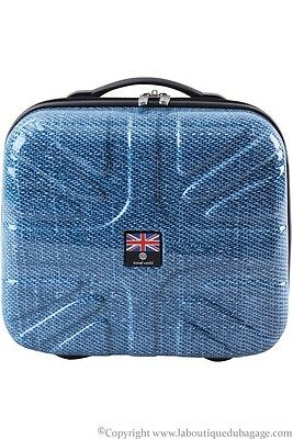 TRAVEL WORLD Vanity rigide 34 cm ABK Bleu Jeans