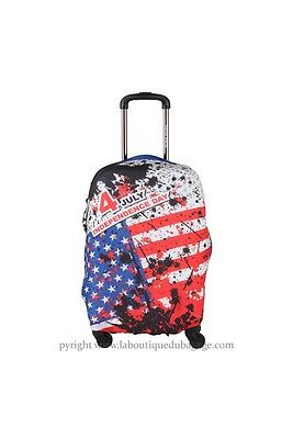 TRAVEL WORLD Housse DRAPEAU USA Rouge taille L