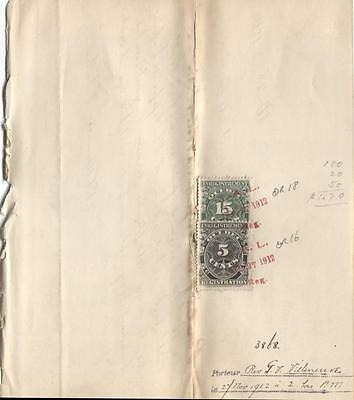 Quebec #QR16, QR18 5c & 15c 1912 Registration on 1912 Priest Appointment F-72