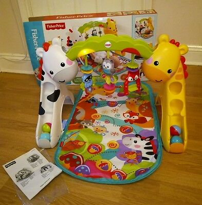 fisher price newborn to toddler play gym playmat musical 3 in 1 baby toy and box