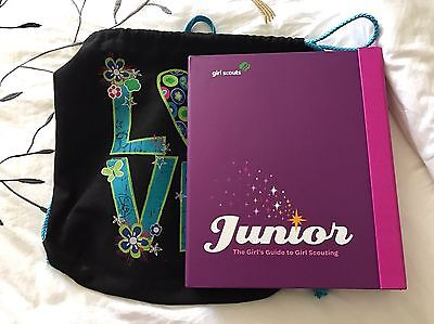 the junior girl's guide to girl scouting book (GS bag included)