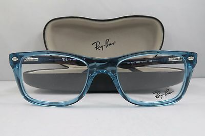 64a1c1f223c RAY-BAN RB 5228 5235 Clear Blue Blue New Authentic Eyeglasses 50mm w Case