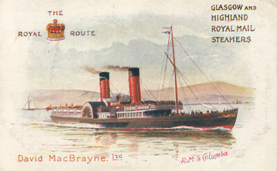 Glasgow and Highland Royal Mail Steamers - RMS Columba - The Royal Route