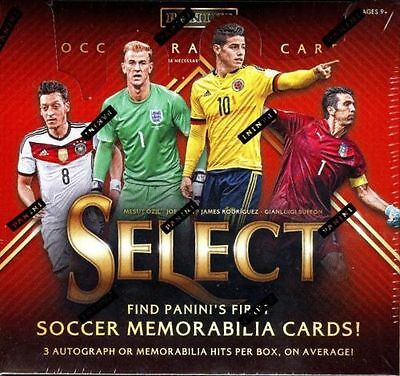 2015 Panini Select Soccer Factory Sealed Hobby Box