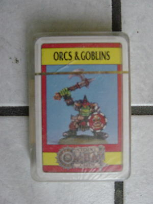 "Warhammer/Citadel Fantasy Playing Cards/Game -noch ovp.""Orcs & Goblins""°°"