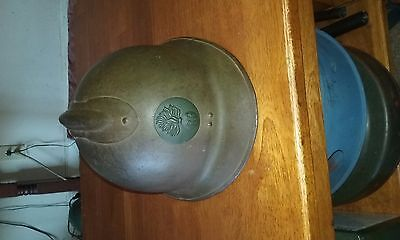 French m26 helmet shell with badge and chinstrap