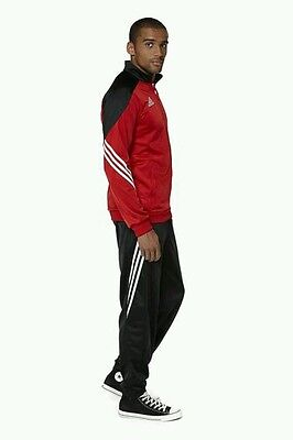 Kids Adidas Serona Tracksuit Size XS 116cm Red and Black Age 6 New in Bag