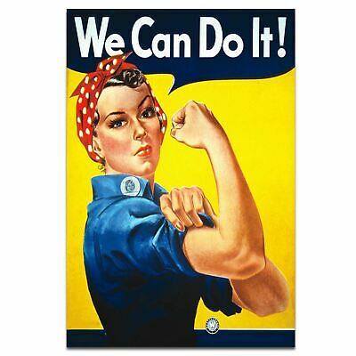 We Can Do It World War 2 Propaganda Rosie The Riveter Poster A3 Size