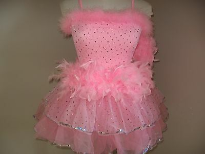 NWT Girl's Ballet Dance Pageant Tutu Costume Dress Child Extra Large 14