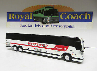 """REDUCED  - Diversified Prevost X DIECAST 8-1/2"""" BUS - 1:64 SCALE S GUAGE"""