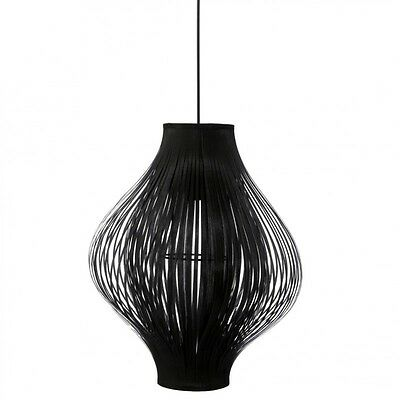 "Paris Prix - Lampe Suspension Pliante ""Yisa"" 44cm Noir"