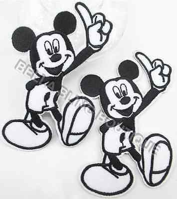 1 Embroidered Mickey Mouse Iron On Sew On Patch Clothes Craft Applique