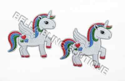 1 Embroidered Girls Unicorn Badge Iron On Sew On Patch Craft Applique