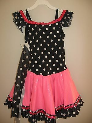 NWT Girl's Retro Ballet Dance Pageant Tutu Costume Dress Child Large 12