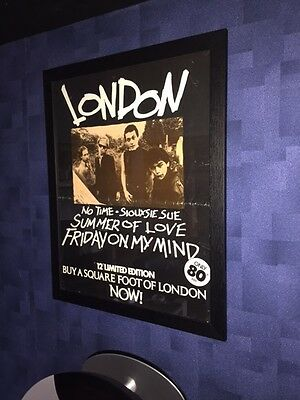 Very Rare Original 1977 LONDON Framed Punk Promo Poster For Siouxsie Sue EP
