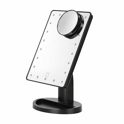 22 LED Light Illuminated Touch Screen Make Up Cosmetic Tabletop Vanity Mirror UK