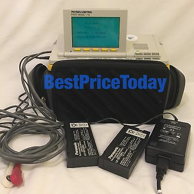 PHYSIO CONTROL FIRST MEDIC 710 AED ECG cables Free UK Post