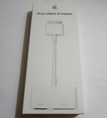Apple 30-Pin Digital HDMI AV Adapter Model A1422 For iPad, iPhone, iPod $39