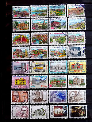 Small used stamps collection of Turkey as scan.