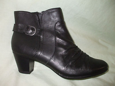 FOOTGLOVE  Black Leather Ankle Boots  UK 8   NEW