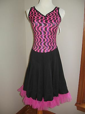 NWT Girl's Ballet Dance Solo Fiesta Costume Long Dress Child Large 12