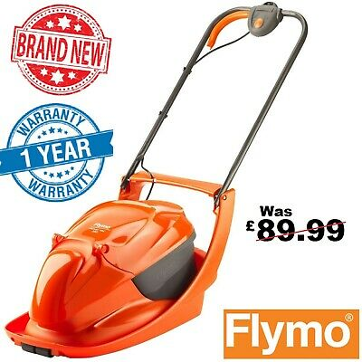 Flymo Electric Hover Vac 280 Electric Lawnmower 28cm - 1300W / Garden Lawn Mower
