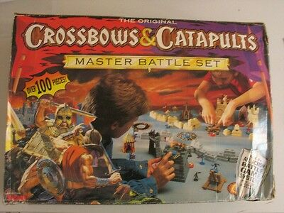 Crossbows & Catapults Master Battle Set, Vintage 1980s Game - RARE ITEM