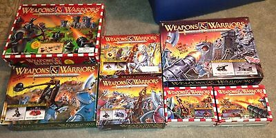Pressman Weapons & Warriors 7 Board Game Set Castle/Catapult 1994 Vintage 300pcs