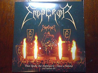 "Emperor Thus Spake the Nightspirit/Inno A Satana Live Inferno EP 7"" Gold Vinyl"