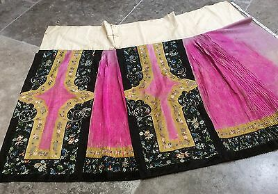 Antique chinese embroidered skirt 19th century