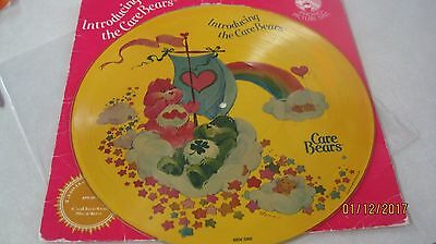 """Vintage Picture Disc """"Introducing the Care Bears""""  33 1/3 LP  NM"""