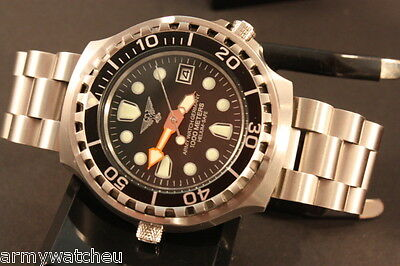 German Divers Watch for Diver Watch for Professionals with helium valve 100 ATM