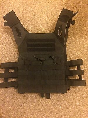 Tactical Black Jumper Plate Carrier Vest Jpc Style Airsoft Paintball-New