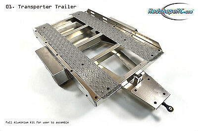 RADSHAPE RC 1/10th Scale Aluminium Car Transporter Trailer Kit RARA10008,axial