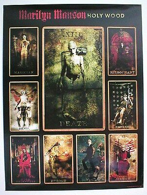 MARILYN MANSON ~ HOLYWOOD ~ PROMO POSTER ~ 18 x 24 ~ EXCELLENT condition!