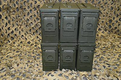 ( 6 PACK ) 7.62 / 30 Cal M19A1 AMMO CAN VERY GOOD CONDITION  ** FREE SHIPPING**
