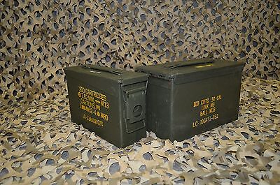 ( 2 Pack ) Combo 50 Cal / 308 Cal AMMO CAN VERY GOOD CONDITION * FREE SHIPPING*