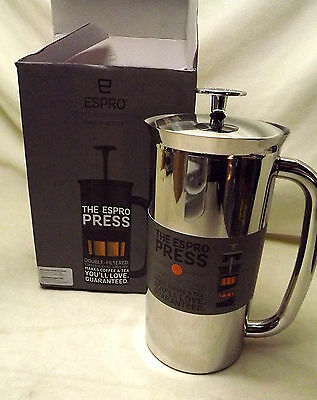 NIB Espro Large 32 Ounce Vacuum Insulated Stainless Steel French Coffee Press