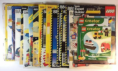 LEGO Collection of Instruction Booklets (Lot of 20+ items) Used
