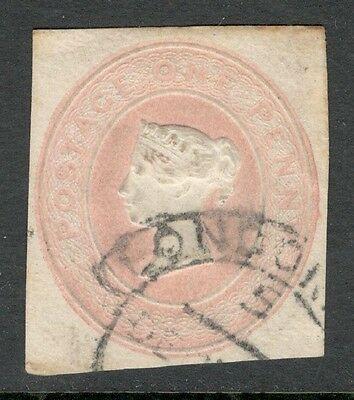 Queen Victoria - 1d Embossed - Postal Stationery