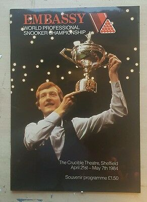 World Snooker Championship Programme 1984