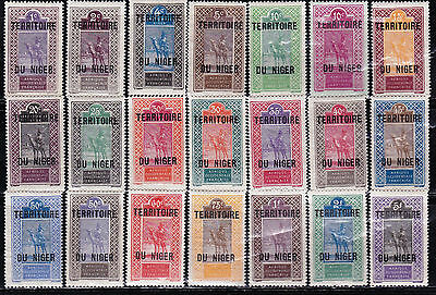 Niger - French Colonies - France - Scott 1 - 21 - Complete Mint Set - Look!